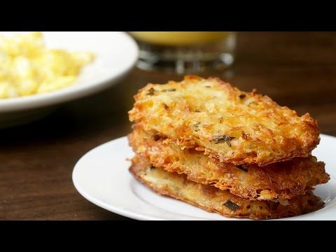 Cheesy Baked Hashbrown Patties: Red Potatoes, Butter, Cheddar Cheese, Eggs, Chives, Garlic Salt, Oregano, Pepper