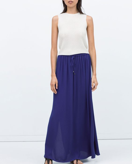 Image 2 of LONG SKIRT WITH SLITS from Zara