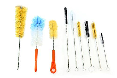 McKay 9 Piece Variety Pack Wire Tube and Bottle Brush Cleaning Set- Variable Sizes & Shapes Brushes - Bristles Fabricated with Soft and Stiff Natural Boar Bristles or Nylon, Hog Hair - Easy to Clean - $14.99