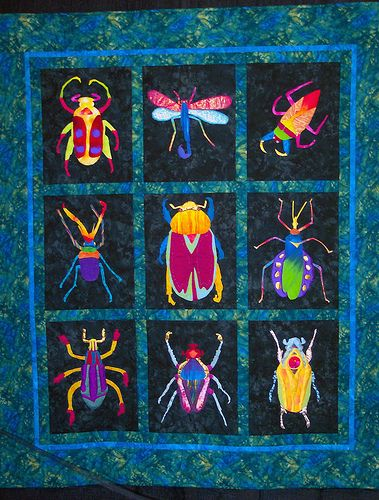 Black Hole Quilt by Diane Farrar | Insects, Patchwork and Applique ... : bug quilt - Adamdwight.com