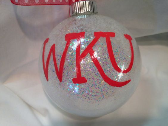 Uk Basketball: Western Kentucky University Christmas Ornament WKU By