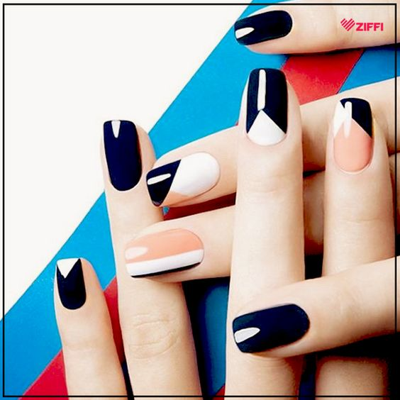 Graphic nailart is our favorite this season. What about you? Book an appointment at your nearest nailspa and look your best. :D #Nails #nailart #nailfashion #nailswag #naildesigns #nailcolors #naillove #ziffi #salon #spa