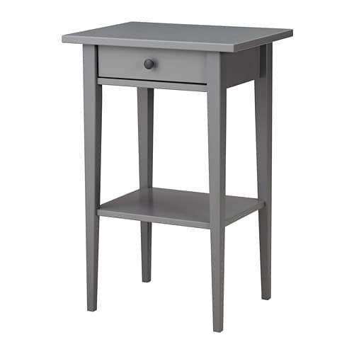 Hemnes Table De Chevet Gris 46x35 Cm Ikea Table De Chevet Grise Table De Chevet Hemnes