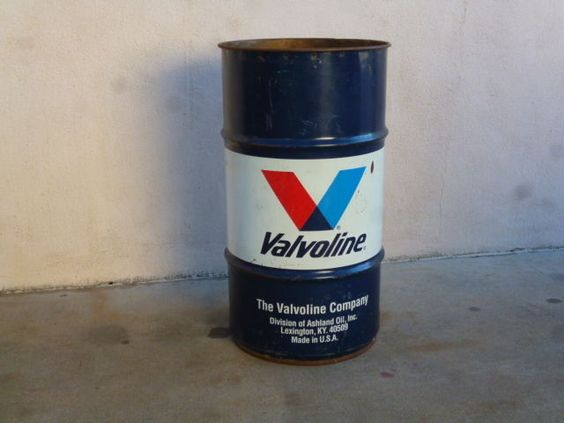 Vavoline vintage patina motor oil drum 50 39 s 60 39 s gas oil for Motor oil by the drum