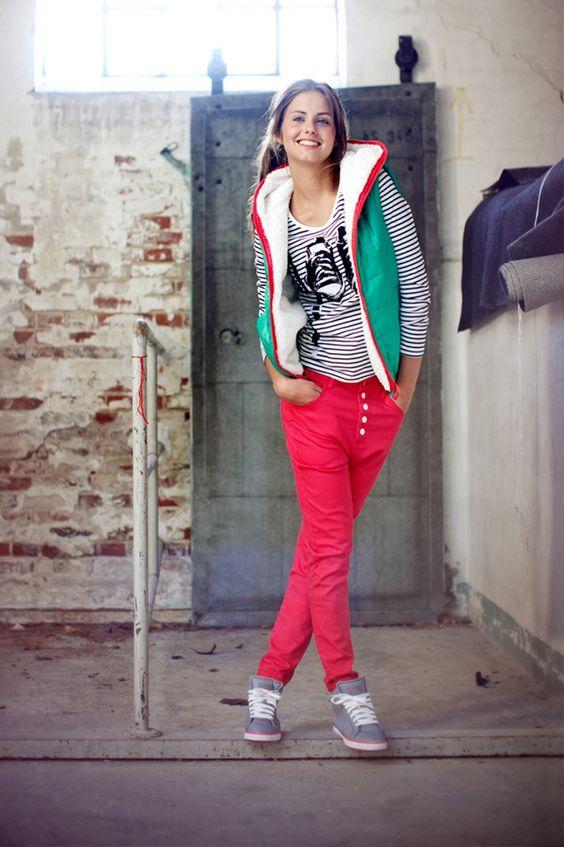 Fel roze Outfitters Nation broek