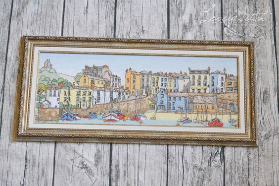 Lovely stitch: Harbour Town (Tenby).