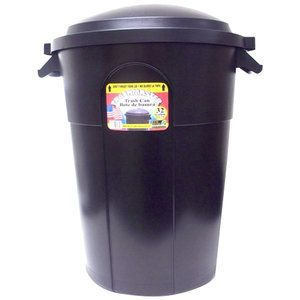 Walmart Trash Cans Outdoor Alluring Trashmaster 32Gallon Inj Trashcan  Night Mondays And Walmart