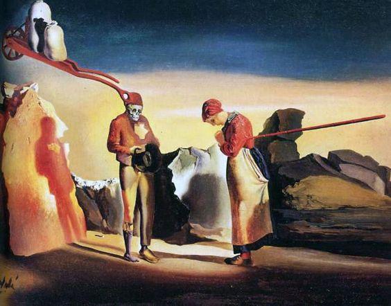 Atavism at Twilight, circa 1934 | Salvador Dalí #Surrealismo #Painting @deFharo