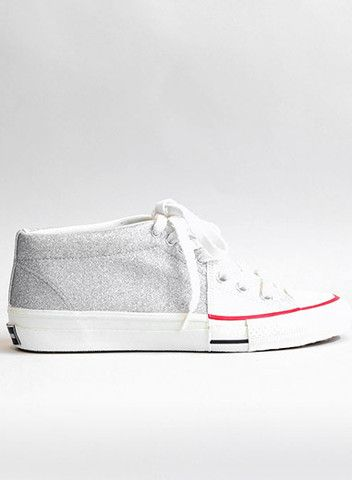 WHITE AND SILVER SNEAKER | guildla