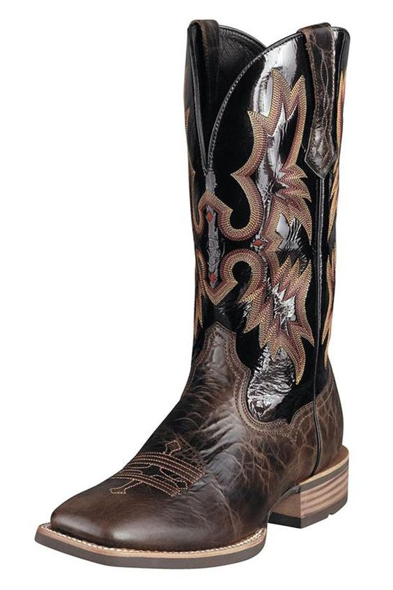 Ariat Black Cowboy Boots..hmm these are nice for Russ