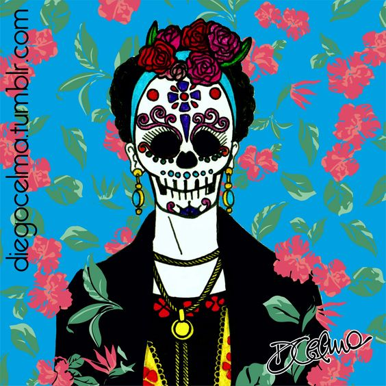 Día de Muertos! #DiaDeMuertos #mexico #celebration #illustration #FridaKahlo #latino #colors #art #drawing #handinked #DayOfTheDead #mexicanholiday #holiday https://www.facebook.com/diegocelmailustrador/
