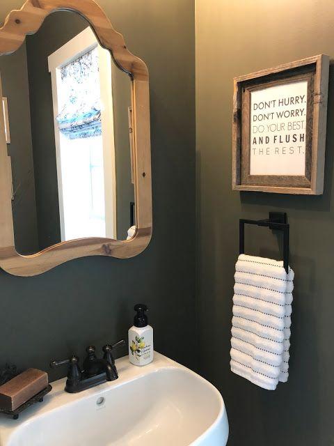 Powder Bath Makeover Small Bathroom Decor