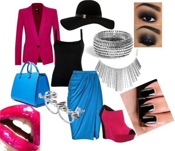 """Color Block Nouveau"" by kiki-mccowan on Polyvore"