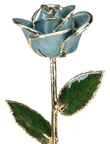24k Gold Rose - Real Rose Dipped in Gold (Light Blue) by Living Gold, http://www.amazon.com/dp/B00BGI0PNM/ref=cm_sw_r_pi_dp_151xrb1B2RJ7D