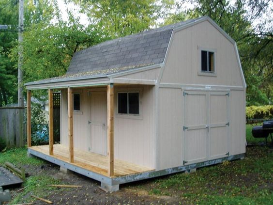 Shed storage storage buildings and sheds on pinterest for Tuff shed dog house