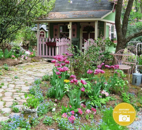 9 Cottage Style Garden Ideas: Gardens, Style And Greenhouses On Pinterest