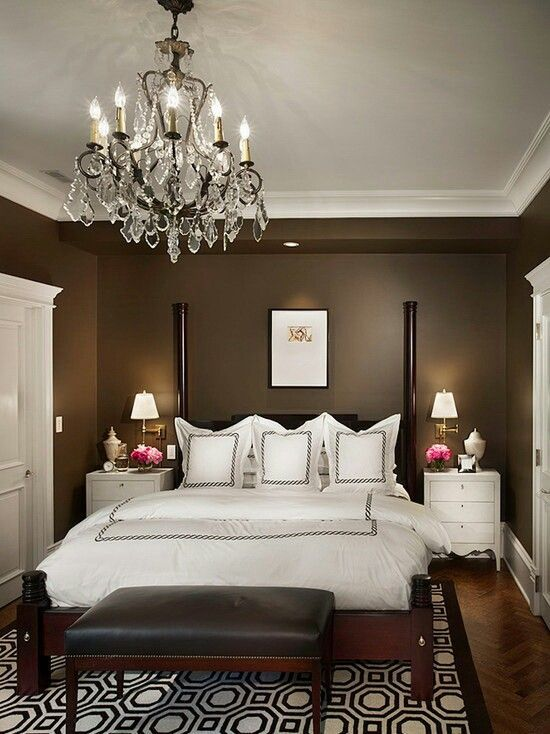 36 Stunning Solutions For Your Dream Master Bedroom Small Master Bedroom Decorating Ideas Small Master Bedroom Traditional Bedroom Dark bedroom wallpaper ideas