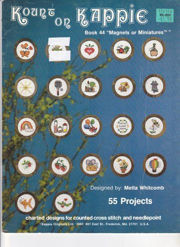 Kount on Kappie 44 Magnets or Miniatures Cross Stitch Design Booklet Mini