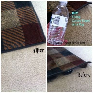 DIY tutorial - Fixing a rug that has curled up edges.