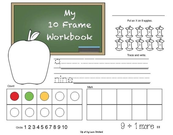 FREE 10 Frame Activity Packet. Use the pages in a workbook, as ...