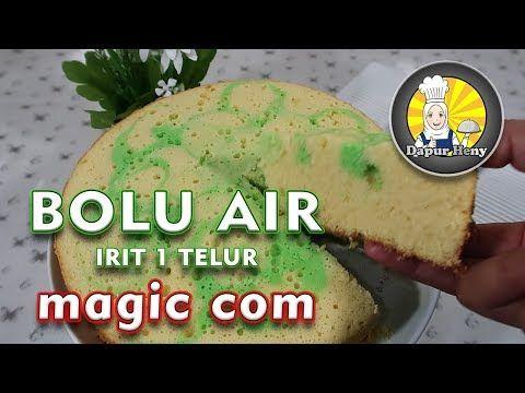 Bolu Air Irit 1 Telur Magic Com Youtube Telur Resep Nanas