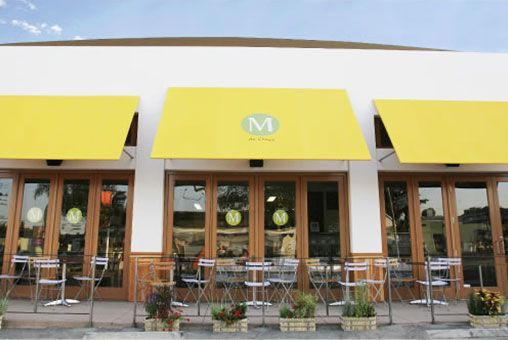 M Cafe in Los Angeles serves macrobiotic food. Love the Cole Slaw and Kale Lemonade with agave syrup.