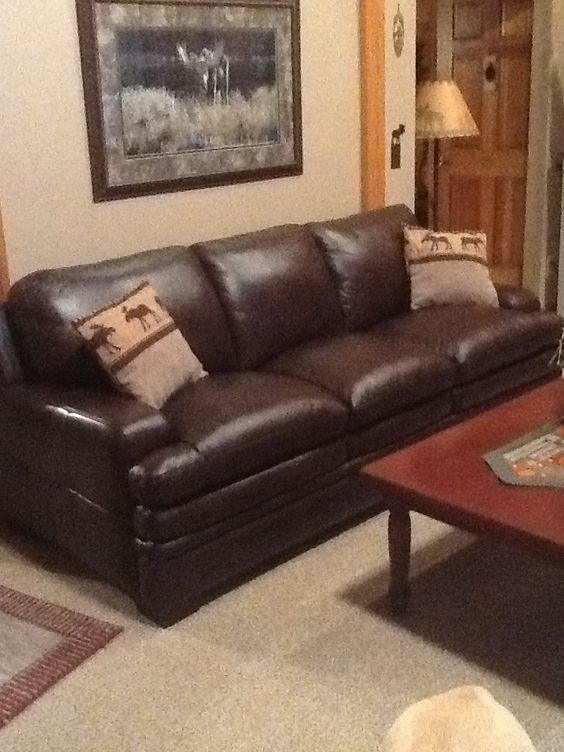 New leather furniture