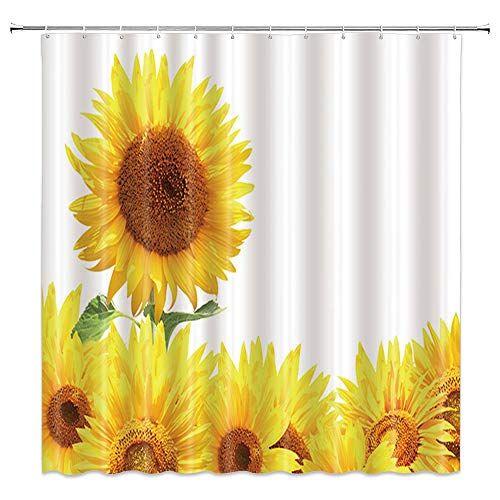 Amnysf Yellow Sunflower Shower Curtain Shower Curtain Curtains
