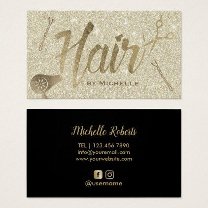Hair Stylist Elegant Gold Typography Beauty Salon Business Card Zazzle Com Salon Business Cards Beauty Salon Business Cards Hairstylist Business Cards