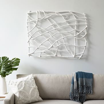 papier mache wall art branches westelm diy art