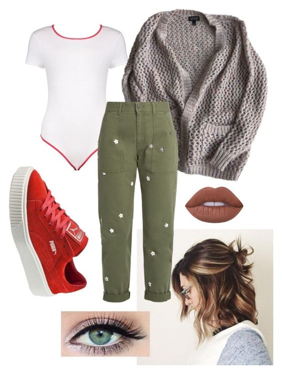 """""""Is it worth it ?"""" by chupachups3 ❤ liked on Polyvore featuring Boohoo, Topshop, STELLA McCARTNEY, Puma and Lime Crime"""