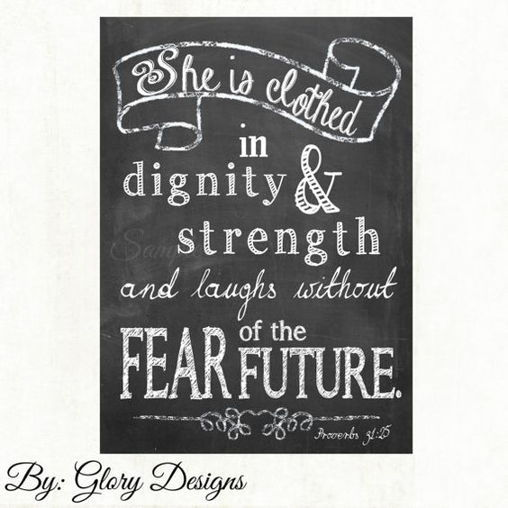 She Is Clothed With Strength And Dignity Canvas: Pinterest • The World's Catalog Of Ideas