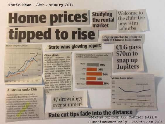 WHAT'S NEWS - latest home prices tipped to rise....