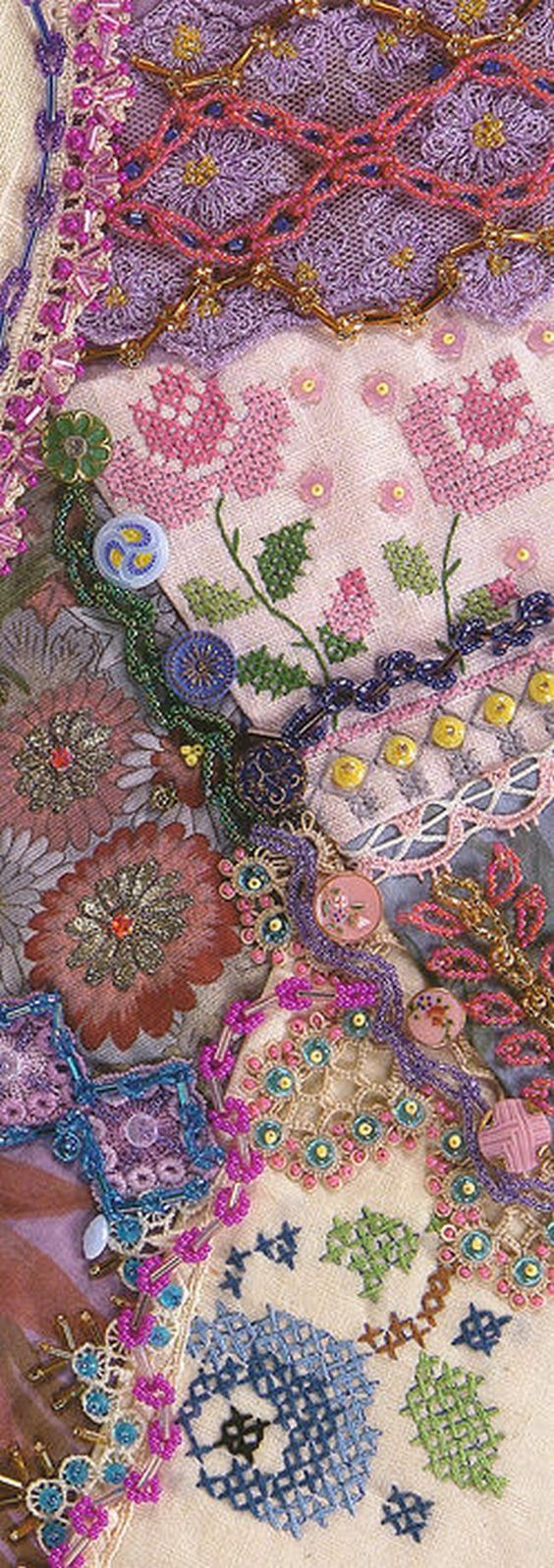 I ❤ crazy quilting & embroidery . . .  ~By Nancy Eha/fascinating bead work: