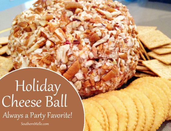 """Today's party recipe comes directly from my Mama, a.k.a. """"Nana"""". This is the BEST cheese ball I have ever tasted, and it always a big hit at parties. You can make this cheese ball recipe in advance, wrap in plastic wrap, and it will keep in the refrigerator for several days. Serve with buttery round …"""