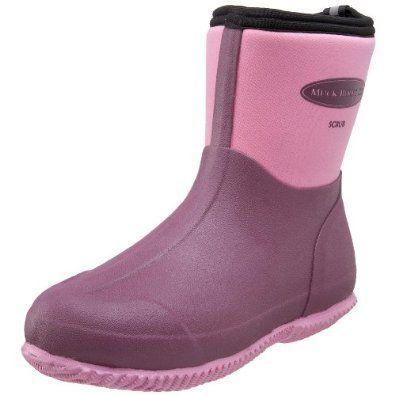 Pink muck boots = best year-round garden boots