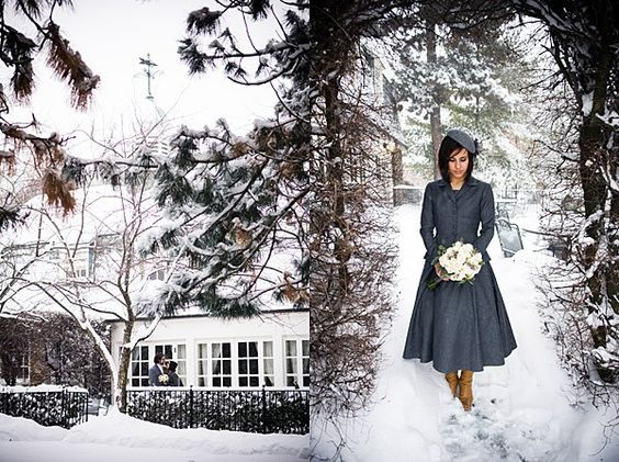 Snowy Canadian Wedding by Calla Evans Photography