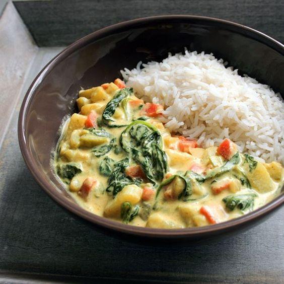 Curry de légumes (végétalien):