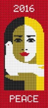 0 point de croix femme paix 2016 - cross stitch woman peace 2016