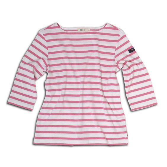 Camiseta de algodón náutica de mujer