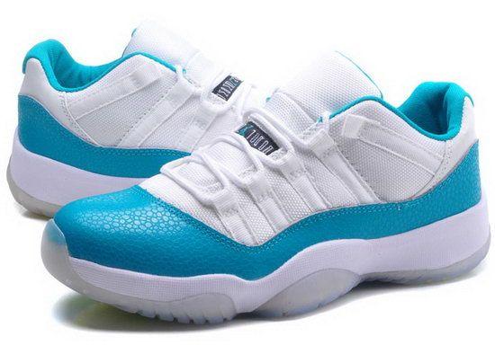Womens Air Jordan Retro 11 Low White Jade Coupon(USD 89.99)-Sale