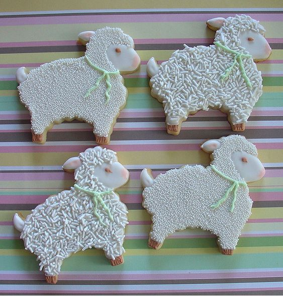 montreal confections - easter - decorated easter cookies - the cutest lambs ever:
