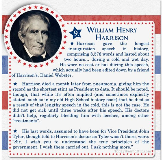 100+ Facts About US Presidents 9- William Henry Harrison ...