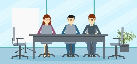 Vector Design Background Of Board Meeting Or Management In The Office Vector Design Work Cartoons Character Design Male