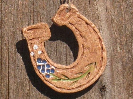Tiny Bluebonnet Horseshoe by TexasAngelGifts on Etsy, 3.50
