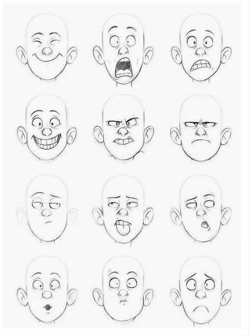 Dessin Visage Face Tete Head Expression Blackandwhite