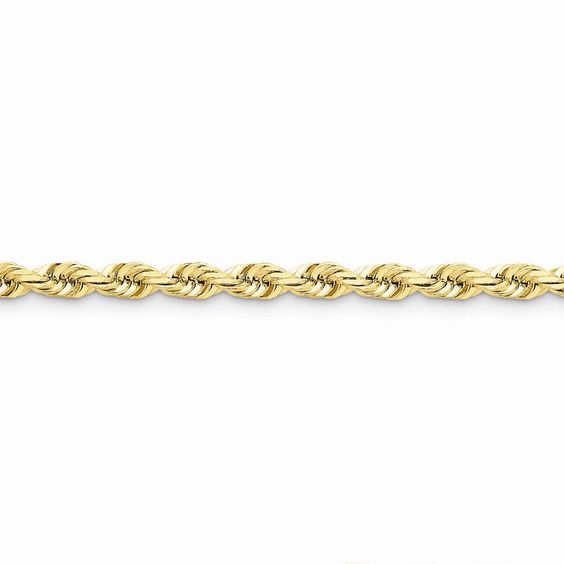 14k 5.5mm D/C Rope with Lobster Clasp Chain Bracelet 7 Inches. Free And Fast Shipping And Excellent Customer Care. Average Metal Weight (Grams): 17.04. Metal Length (Inches): 7. Metal Width (MM): 5.5. 14K Yellow Gold.