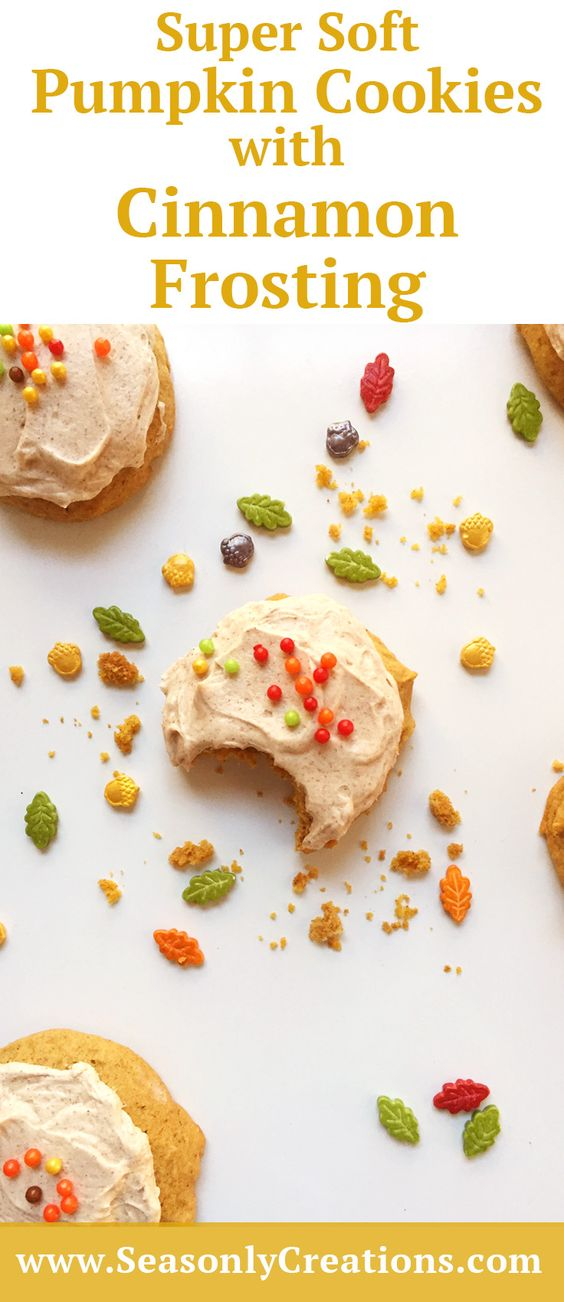 Super Soft Pumpkin Spice Cookies with Cinnamon Frosting | Recipe