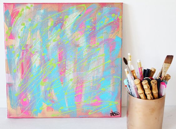 Painting 12 by GracePaint on Etsy, $35.00