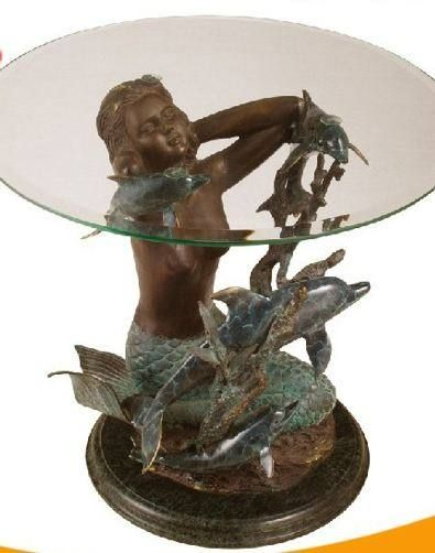Mermaid Coffee Table Base Mermaid Furniture Mermaid Figurines